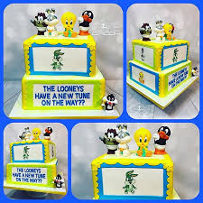 looney tunes baby shower baby shower gender reveal cakes