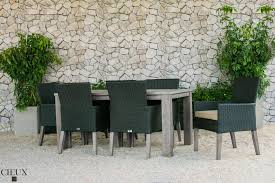 premium wicker and sunbrella fabric outdoor dining sets cieux