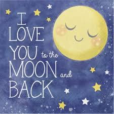 i you to the moon and back lunch napkins