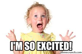 Excited Girl Meme - m so excited