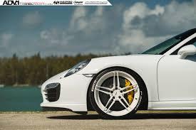 white porsche 911 turbo white porsche 911 turbo s adv05 m v2 cs series wheels 21x9 5