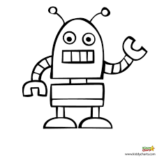 unique robot coloring page 35 in coloring pages for kids online