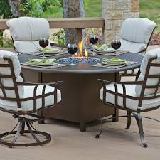48 Inch Fire Pit by 48 Inch Round Fire Pit Table Made Of Stainless Steel In Espresso