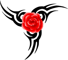 tribal tattoo with rose png svg clip art for web download clip