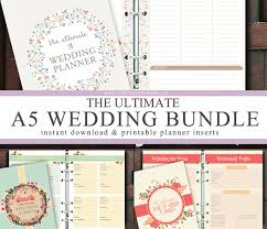 of honor planner a5 ultimate wedding honeymoon planner inserts bundle instant