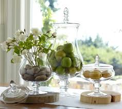 Fruit Vase Filler Spring Apothecary Jar Filler Flowers And Stones With Soft Citrus