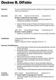 English Teacher Resume Examples by Middle Teacher Resume Examples Best Resume Collection