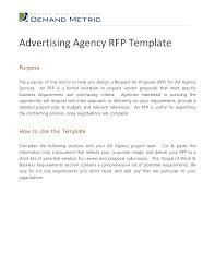 sle rfp template radio advertising template 100 images 6 advertising agency