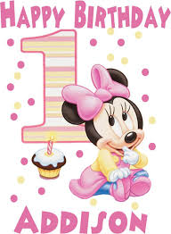 baby minnie mouse 1st birthday iron on transfer or shirt