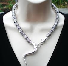 sterling silver snake necklace images Statement necklaces for petites jpg