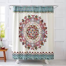 Bathroom Shower Curtain Set Bohemian Mandala Pattern Shower Curtains Sets For Bathroom With A