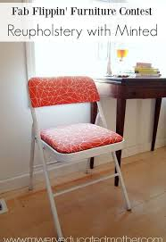 Folding Chair Fabric From Practical Folding Chair To Stylish Seat With Minted Fabric