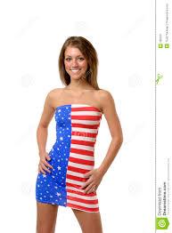 Flag Dress In American Flag Dress Stock Image Image 785923
