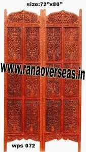 wooden partition screen developed from high quality sheesham wood