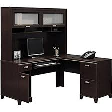 Realspace Dawson Computer Desk Cherry Computer Desk Bush Furniture Tuxedo L Shape Wood