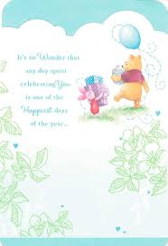 winnie pooh happiest friend birthday card greeting