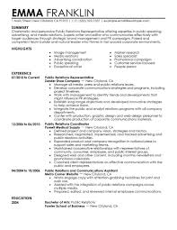 Best Resume For Hotel Management by Public Relations Resume Sample Berathen Com