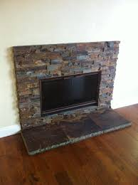 Stacked Stone Around Fireplace by Black Slate Around Fireplace Living Room Pinterest Slate Fireplace
