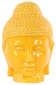 Decorative Buddha Head Ceramic Buddha Head Sculpture With Rounded Shisha Decorative
