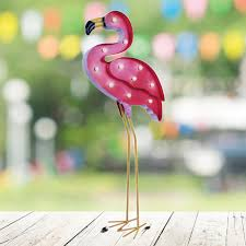 buy pink flamingo solar powered light at this is it stores uk