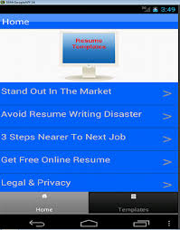 Resume Templates For Applications Resume Templates Android Apps On Play