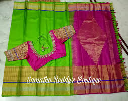 pink color combination beautiful parrot green and pink color combination saree lovely