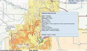 badlands national park map usgs access fall 2011 usgs vegetation characterization program