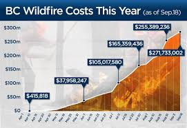 Wildfire Fighting Canada by By The Numbers A Look At B C U0027s Wildfire Fighting Costs This Year