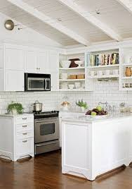 kitchen cottage ideas white subway tile backsplash small cottage kitchen small