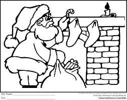kids claus christmas coloring pictures santa pages kids