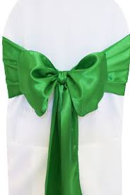 chair sash ties emerald satin chair sashes bows ties wholesale