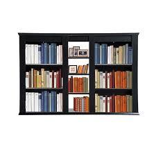 librerie muro homcom libreria a muro in legno truciolato 10 ripiani nero