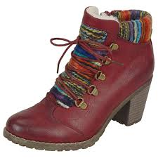 rieker s boots uk rieker buzzard fashion ankle boot with knitted collar mozimo