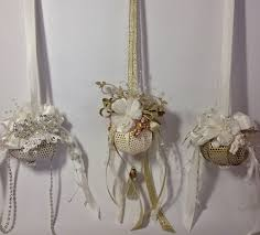 shabby chic ornaments with an electric t light inside using