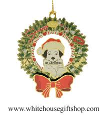 2015 puppy u0027s first christmas ornament sale 3 d 24kt gold plated