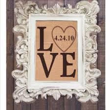 Custom Burlap Art Print Love - best burlap wall hanging products on wanelo