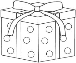 present coloring page coloring page present gift archives best