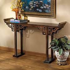 Wood Console Table World Menagerie Arbaaz 32 5