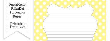 polka dot stationery pastel yellow polka dot stationery paper printable treats