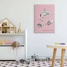 alice in wonderland flamingo croquet canvas print by illustration