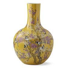 yellow vase yellow hummingbird jar gourd vase williams sonoma