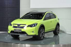 subaru green subaru xv concept is a high riding impreza crossover