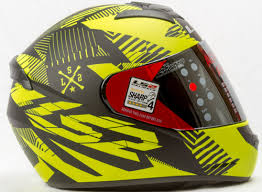yellow ff ls2 ff 352 rookie decor black yellow matt helmet