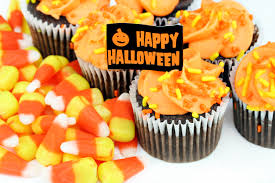 happy halloween cupcakes and candy corn on white cbs new york