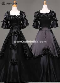 Ball Gown Halloween Costume Black Vintage Gothic Rococo Ball Gown Halloween Party