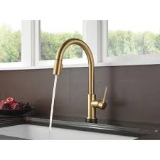 Touch Free Kitchen Faucets by Delta Linden Pullout Sprayer Kitchen Faucet With Touch2o