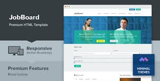 jobboard responsive job market html template jquery slider