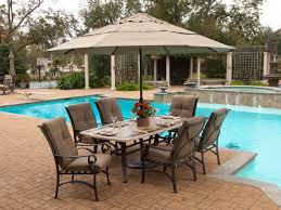 Outdoor Patio Dining Sets With Umbrella Home Design Luxury Stone Table Top Patio Furniture Tuscany