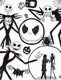 nightmare before christmas coloring pages halloween decor and