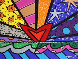romero britto new love eden fine art gallery